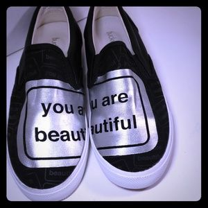 Bucket Feet Size 8 You Are Beautiful Shoes